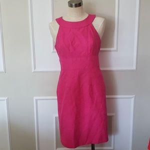 Muse A-line hot pink textured dress